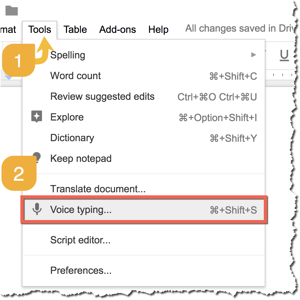 how to put voices google slides