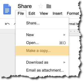 force users to make a new copy of a google doc sheet or slide